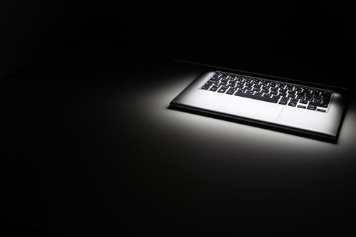 Glowing laptop and keyboard #2