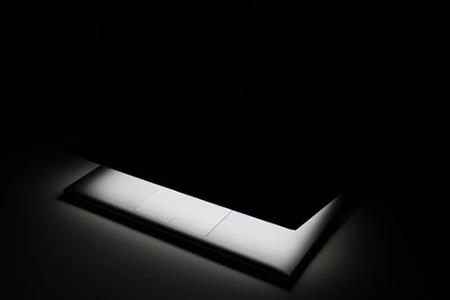 Laptop in dark