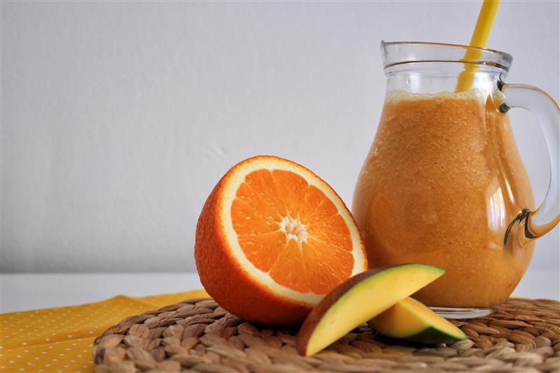 Mango orange fresh juice