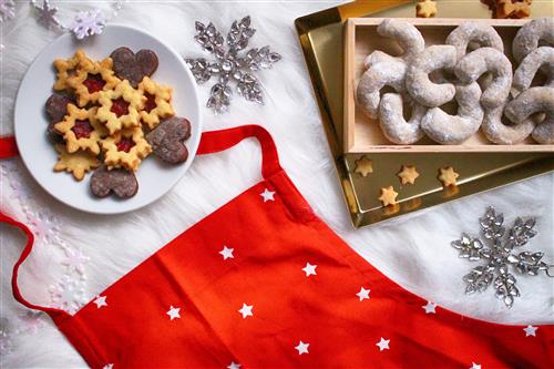Christmas vanilla crescents and another sweets